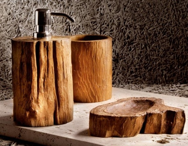 Accessori bagno in legno – Giaquinto